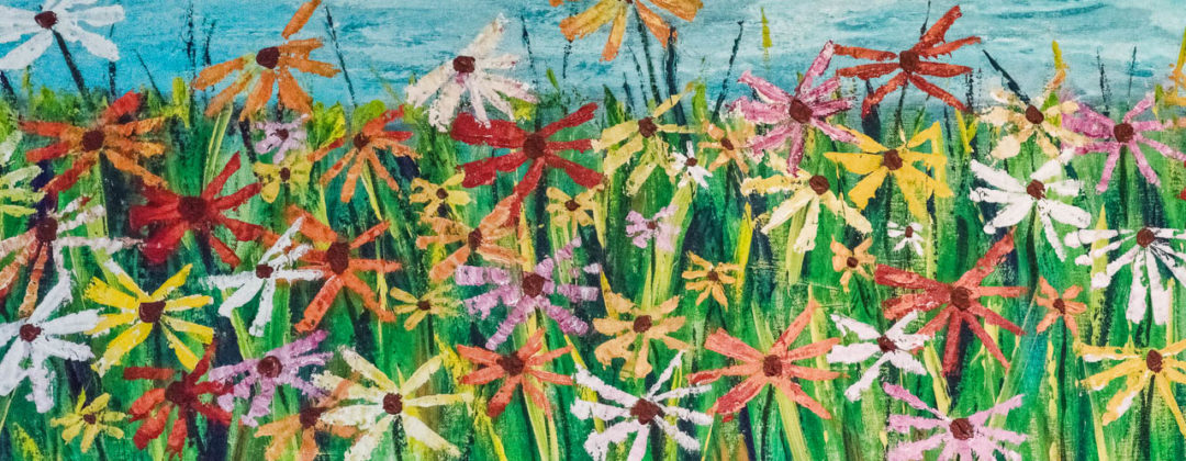 painting of daisies