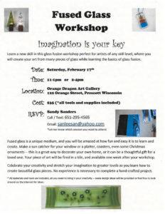 flyer for fused glass workshop